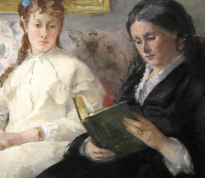 Berthe Morisot, The Mother and Sister of the Artist (detail)