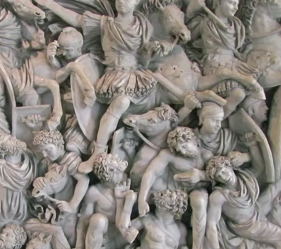 Battle of the Romans and Barbarians (Ludovisi Battle Sarcophagus) (detail)