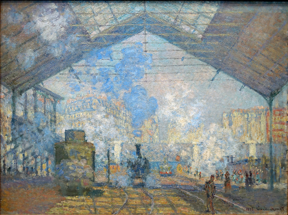 Claude Monet, The Gare Saint-Lazare (or Interior View of the Gare Saint-Lazare, the Auteuil Line), 1877, oil on canvas, 75 x 104 cm (Musée d'Orsay)