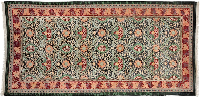 Morris & Company, Carpet, c. 1884, hand-knotted wool pile, 315 x 656 cm (Art Gallery of South Australia)