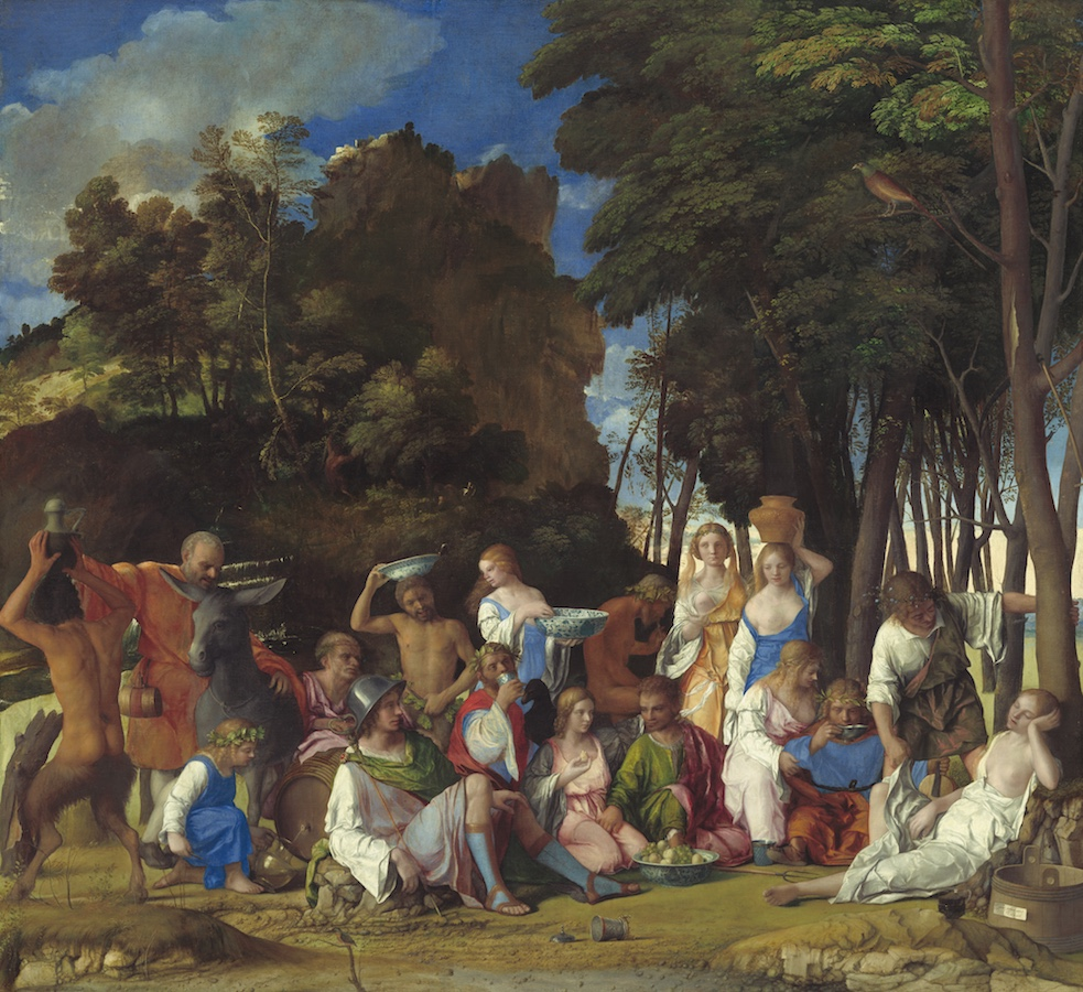 Giovanni Bellini and Titian, The Feast of the Gods, 1514/29, oil on canvas, 170.2 x 188 cm (National Gallery of Art)