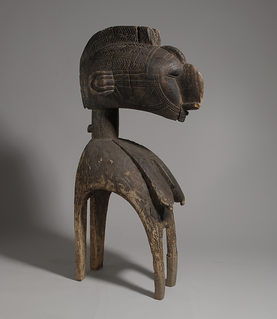 Headdress: Female Bust (D'mba), 19th-20th century, Guinea, Niger River region, Baga peoples, wood, 181.1 x 35.3 x 67.5 cm (The Metropolitan Museum of Art)