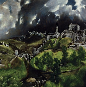 "El Greco, View of Toledo, date unknown, oil on canvas, 47-3/4 x 42-3/4"" / 121.3 x 108.6 cm (The Metropolitan Museum of Art)"