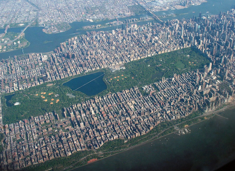 Aerial view of Central Park, New York City