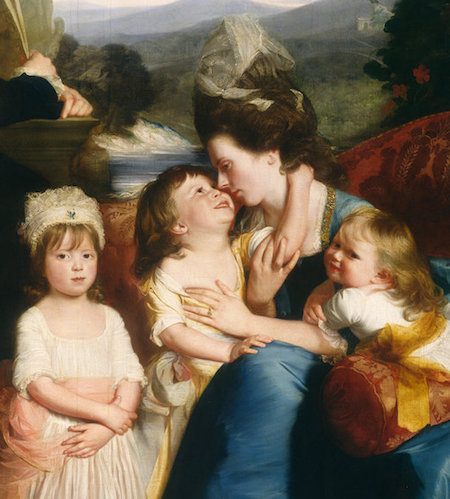 Copley's wife and three children (detail), John Singleton, The Copley Family, 1776-77, oil on canvas, 184.1 x 229.2 cm (National Gallery of Art)