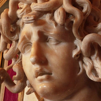 Gian Lorenzo Bernini, Bust of Medusa (detail)