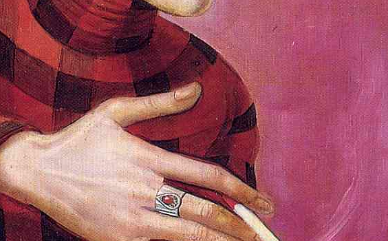 of the Journalist Sylvia von Harden (detail)