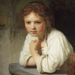 Rembrandt, Girl at a Window (detail)