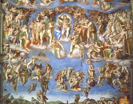 Michelangelo, Last Judgment, Sistine Chapel, altar wall, fresco, 1534-1541 (Vatican City, Rome)