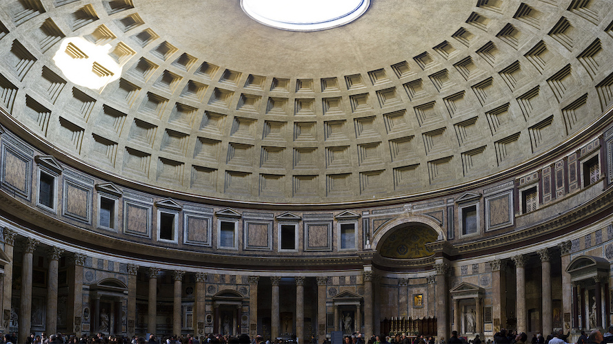 Pantheon, Rome, c. 125 C.E. (photo: Darren Puttock, CC BY-NC-ND 2.0)