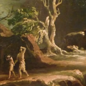 Thomas Cole, Expulsion from the Garden of Eden (detail)