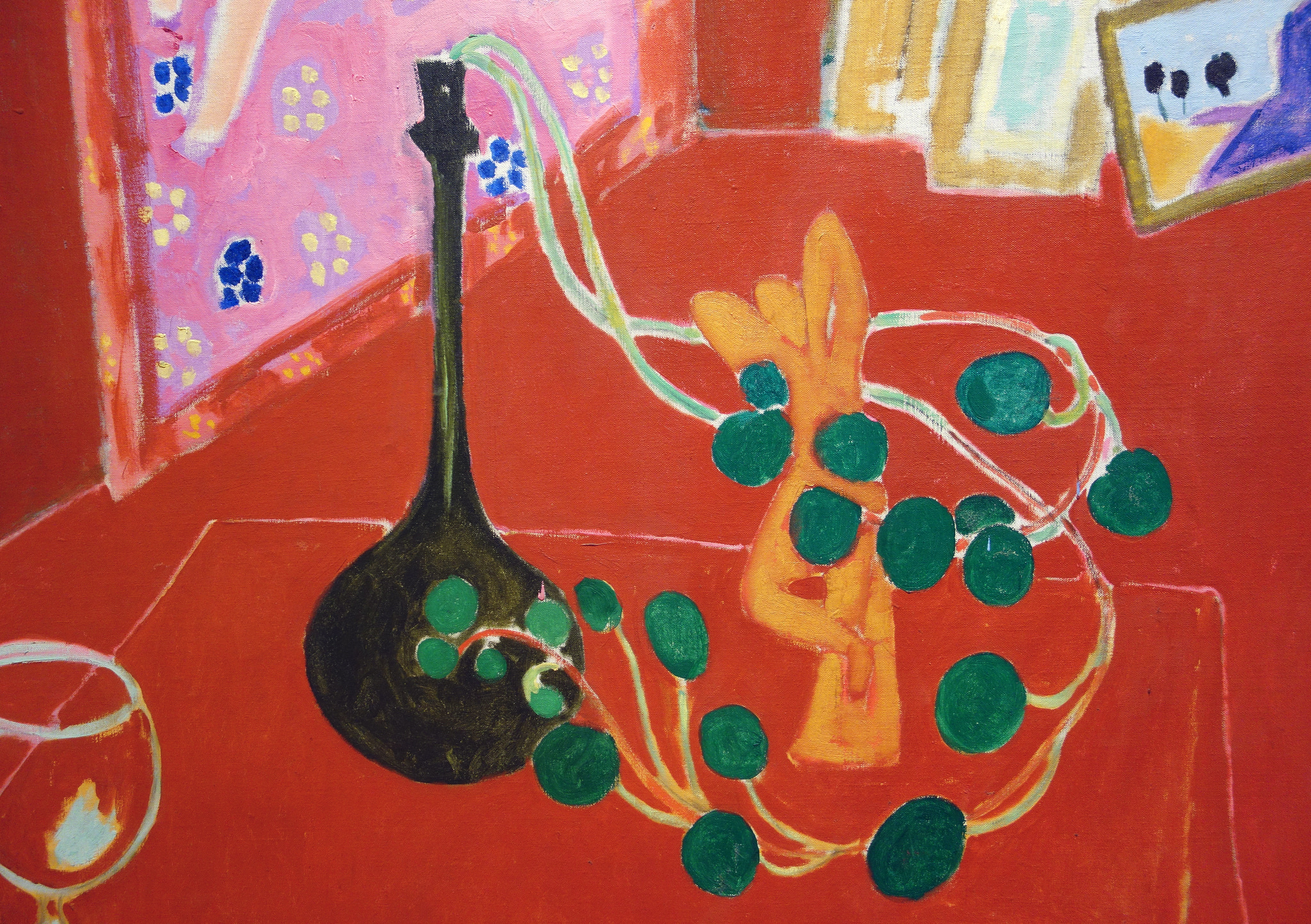 Detail, Henri Matisse, The Red Studio, 1911, oil on canvas, 181 x 219.1 cm (The Museum of Modern Art)