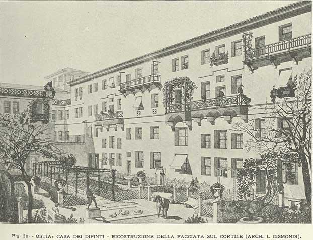 Insula dei Dipinti (Ostia) reconstruction (I. Gismondi)