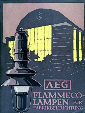 Peter Behrens, Poster for Allgemeine Elektricitäts Gesellschaft (AEG), c. 1910