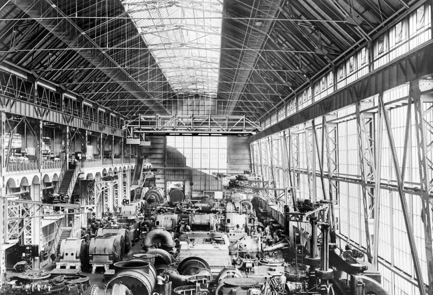 AEG Turbine Factory interior, 1909