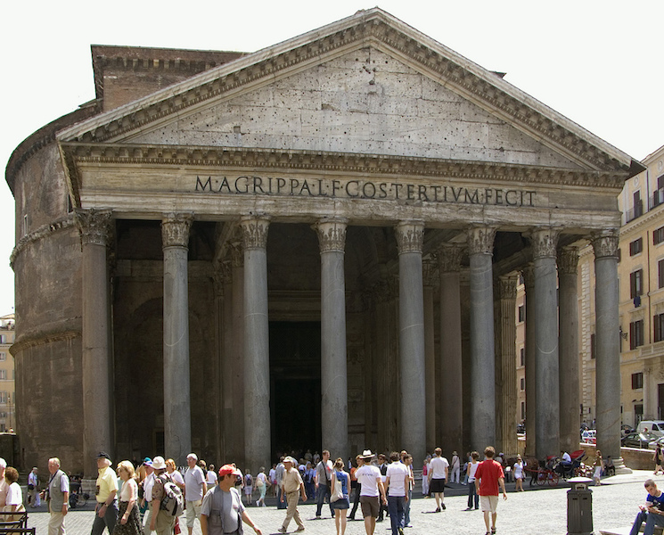 The Pantheon, Rome, c. 125 (photo: Steven Zucker, CC BY-NC-SA 2.0)