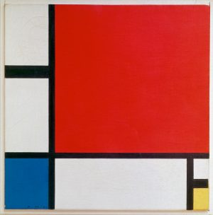 Piet Mondrian, Composition II in Red, Blue, and Yellow, 1930, oil on canvas, 46 x 46 cm (Kunsthaus Zürich)
