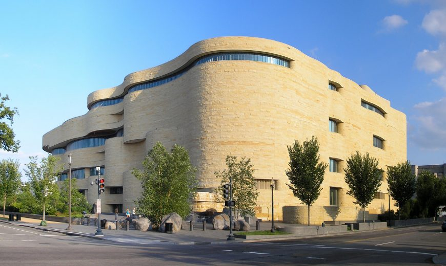Douglas Cardinal*, Louis Weller* with GBQC and Polshek Partners, National Museum of the American Indian, Washington, DC, 2004