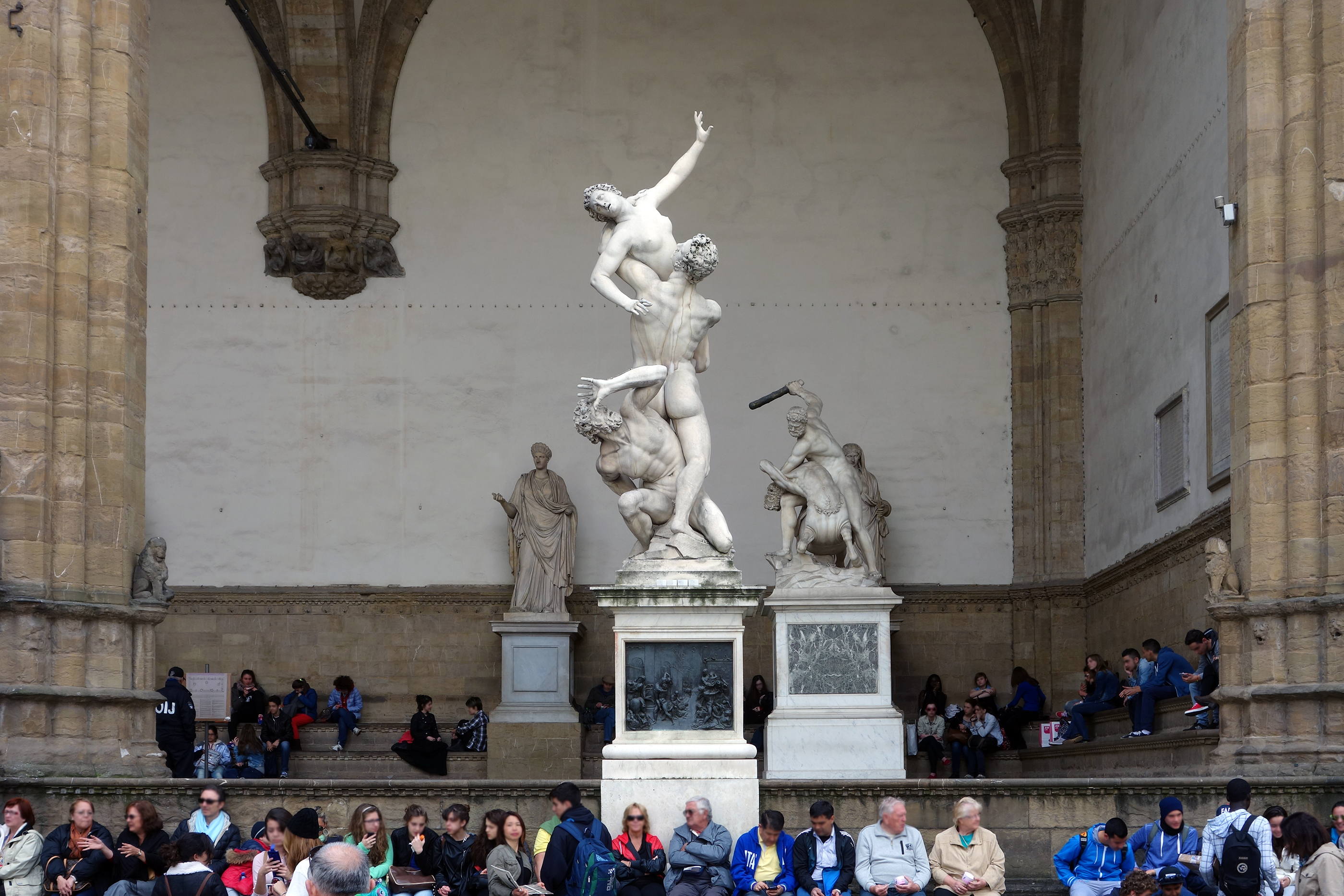Giambologna, Abduction of a Sabine Woman, 1581-83, marble, 410 cm high (Loggia dei Lanzi, Florence)