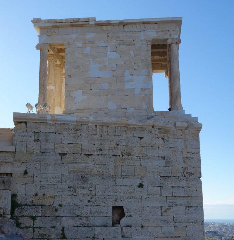 Temple of Athena Nike, 421-05 B.C.E., marble, Acropolis, Athens