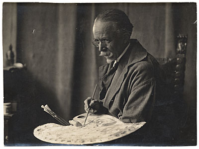 L. Matthes, Henry Ossawa Tanner with a palette, c. 1935, photographic print (Archives of American Art)