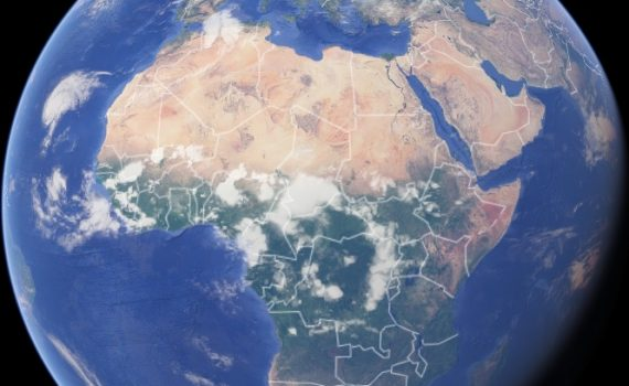 Google earth view of Africa, © Google