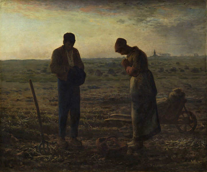 Jean-François Millet, The Angelus, 1857-59, oil on canvas, 55.5 × 66 cm / 21.9 × 26 inches (Musée d'Orsay)