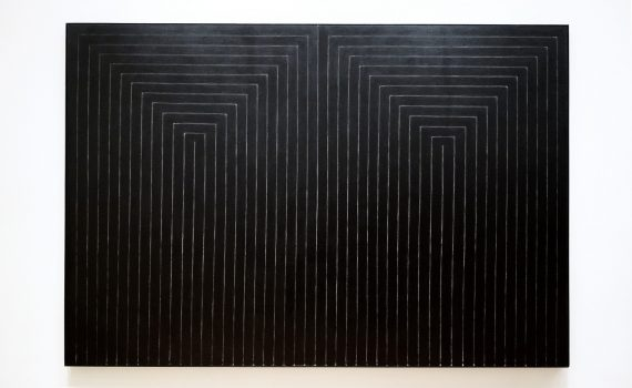 Frank Stella, The Marriage of Reason and Squalor, II, 1959, enamel on canvas, 230.5 x 337.2 cm (The Museum of Modern Art)