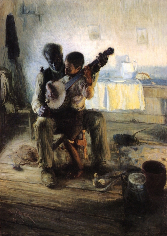 Henry Ossawa Tanner, The Banjo Lesson, 1893, oil on canvas, 49 × 35.5 inches / 124.5 × 90.2 cm (Hampton University Museum, Hampton, VA)