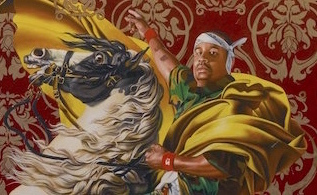 Kehinde Wiley, Napoleon Leading the Army over the Alps By Gayle Clemans Kehinde Wiley, Napoleon Leading the Army over the Alps, 2005, oil paint on canvas, 274.3 x 274.3 cm (108 x 108 in) (Brooklyn Museum of Art, New York)