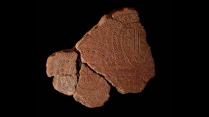 Terracotta fragment (red slip earthenware), Lapita people