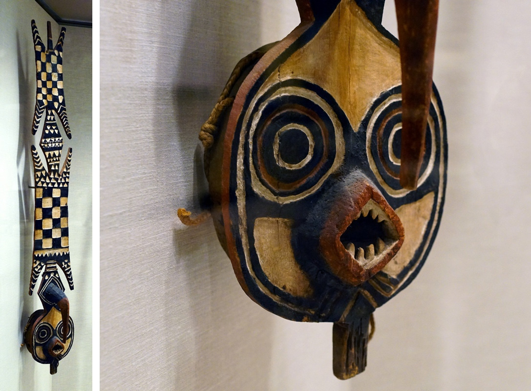 Plank Mask (Nwantantay), 19th-20th century, Bwa peoples, wood, pigment, fiber, 182.9 x 28.2 x 26 cm, Burkina Faso (The Museum of Modern Art)