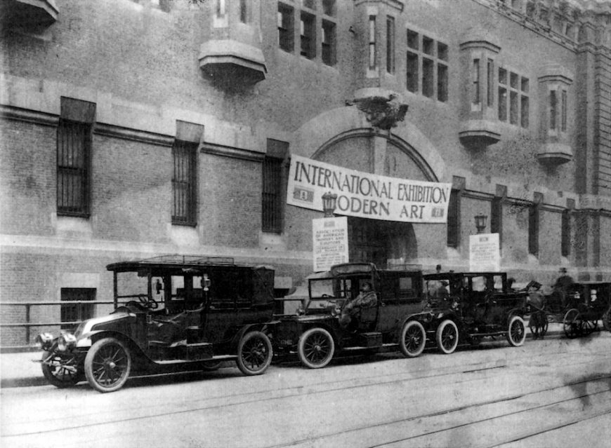 Entrance to the New York City Armory Show, 69th Regiment Armory, New York City, 1913 (public domain)
