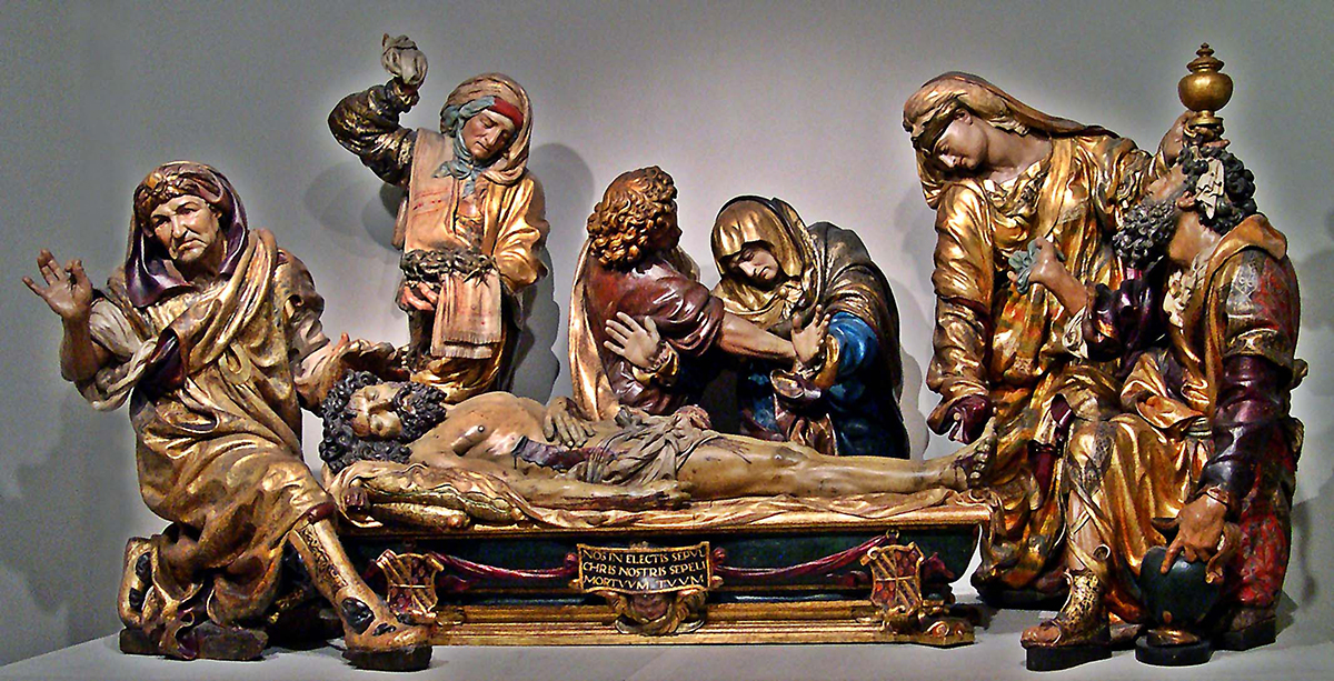 Juan de Juni, <em>Burial of Christ</em>, c. 1541-44, polychromed wood (Museo Nacional de Escultura, Spain)