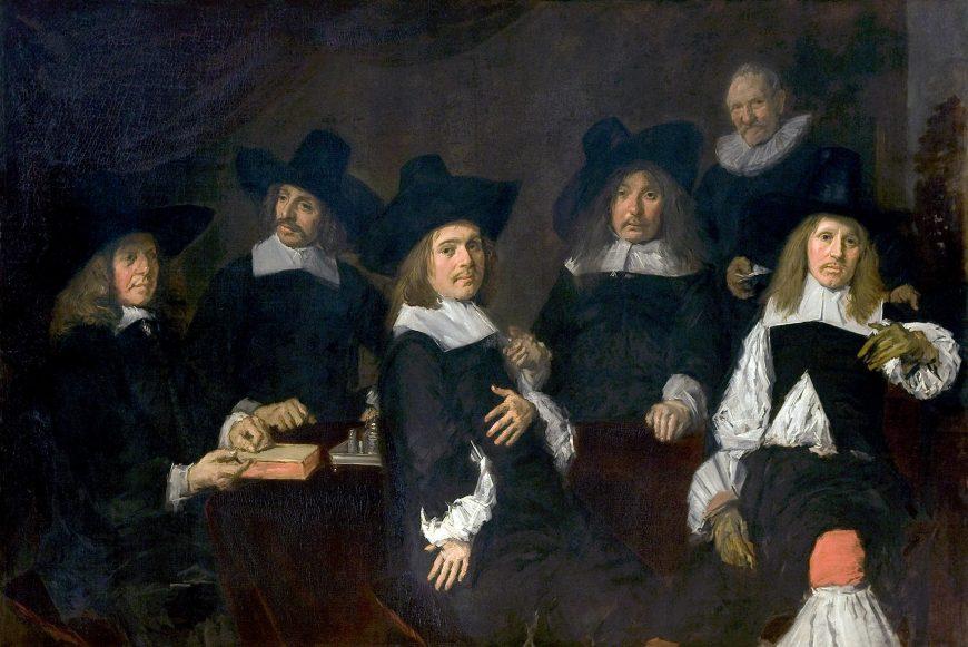 Frans Hals, Regents of the Old Men's Alms House, c. 1664, oil on canvas, 172.3 x 256 cm (Frans Hals Museum, Haarlem)