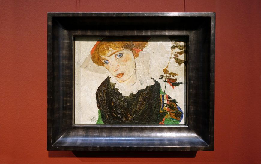 Egon Schiele, Portrait of Wally Neuzil, 1912, oil on panel, 32 × 39.8 cm (Leopold Museum, Vienna)