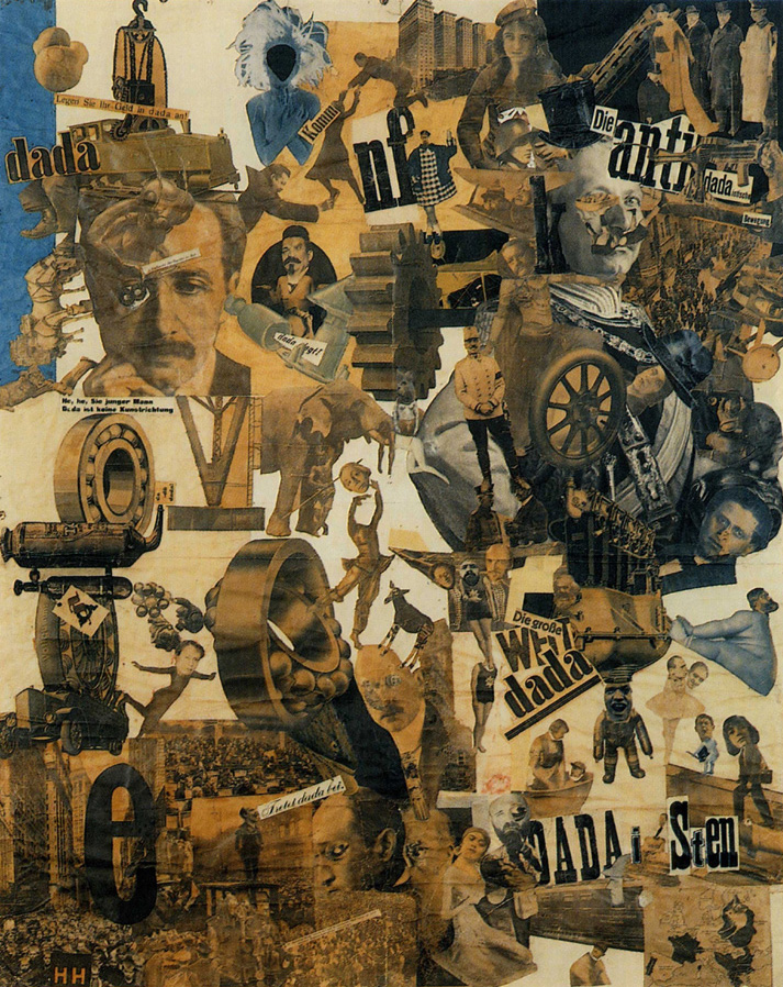 Hannah Höch, Cut with the Kitchen Knife Dada through the Last Weimar Beer-Belly Cultural Epoch in Germany, 1919-20, photomontage and collage with watercolor, 114 x 90 cm (Staatliche Museen zu Berlin, Nationalgalerie)