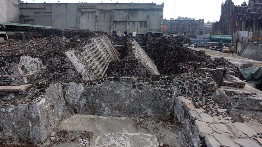 Ruins of the Templo Mayor, 1375-1520, Tenochtitlan, (Museo del Templo Mayor, Mexico City) (photo: Dr. Steven Zucker)