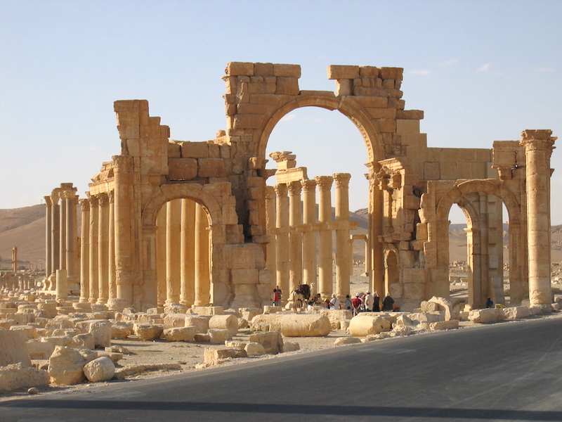 Monumental arch, Palmyra (photo, CC BY-SA 2.5)