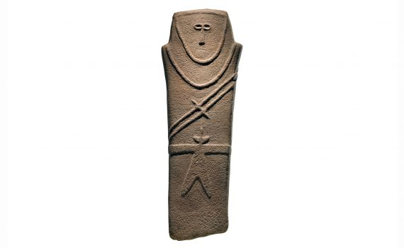 Anthropomorphic stele