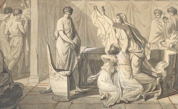 David, <em>Study for The Lictors Bringing Brutus the Bodies of his Sons</em>