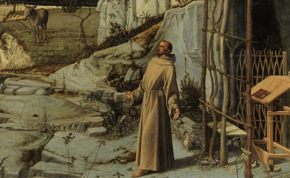 Giovanni Bellini, Saint Francis in the Desert- detail
