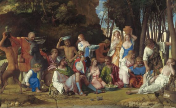 Giovanni Bellini and Titian,<em>The Feast of the Gods</em>