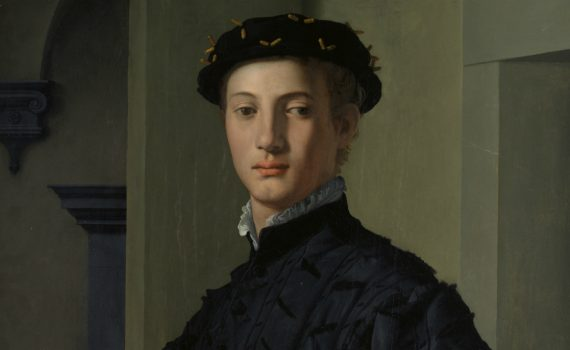 Bronzino, Portrait of a Young Man - detail