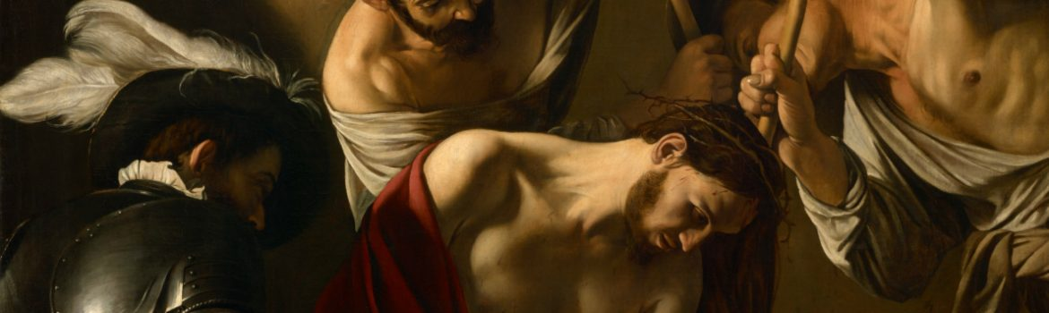 Caravaggio The Crowning with Thorns- detail