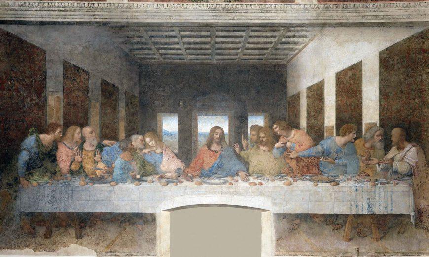 Leonardo da Vinci, Last Supper, oil, tempera, fresco, 1495-98 (Santa Maria delle Grazie, Milan)