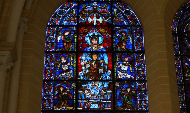 Blue Virgin window, Cathedral of Notre Dame de Chartres, c.1145 and 1194-c.1220, Chartres (France)