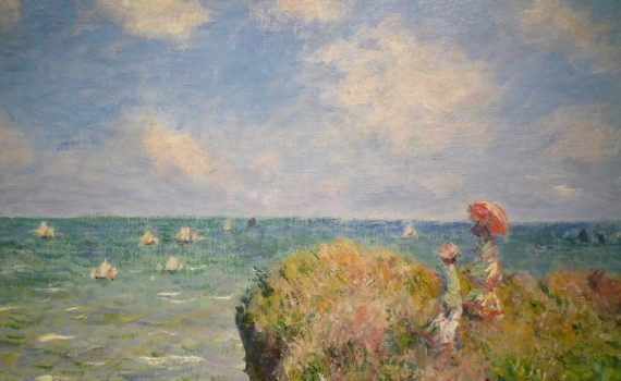 Claude Monet, Cliff Walk at Pourville- detail