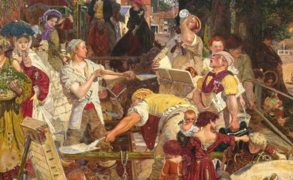 Ford Madox Brown, Work, 1863 - detail