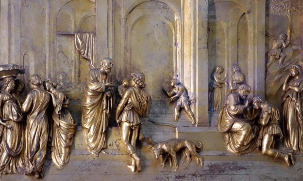Lorenzo Ghiberti, Gates of Paradise, East Doors of the Florence Baptistery, bronze, 1425-52
